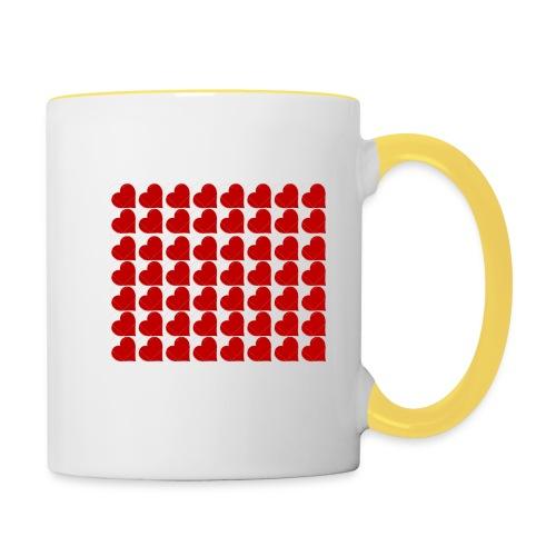 Hearts - Contrasting Mug