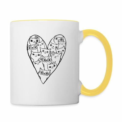 I Love Cats - Contrasting Mug