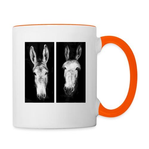 Eselköpfe-Esel - Tasse zweifarbig