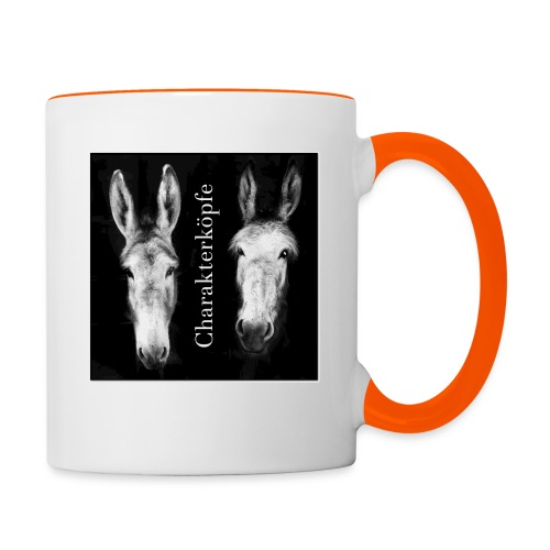 Eselköpfe_Charakterköpfe - Tasse zweifarbig