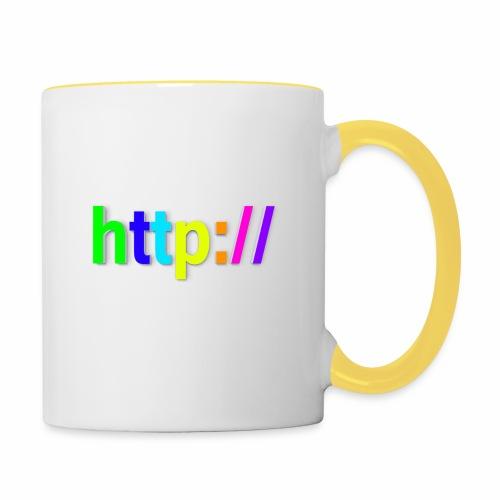 T-SHIRT Potocollo HTTP - Tazze bicolor