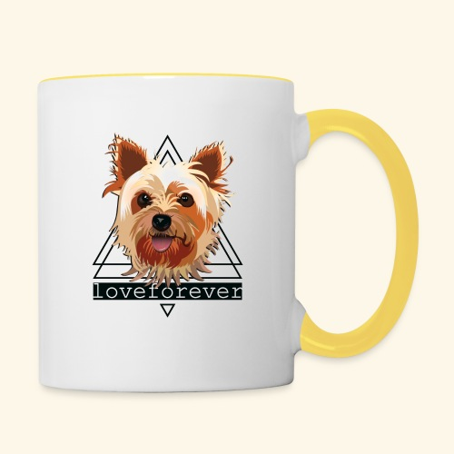YORKIE LOVE FOREVER - Taza en dos colores