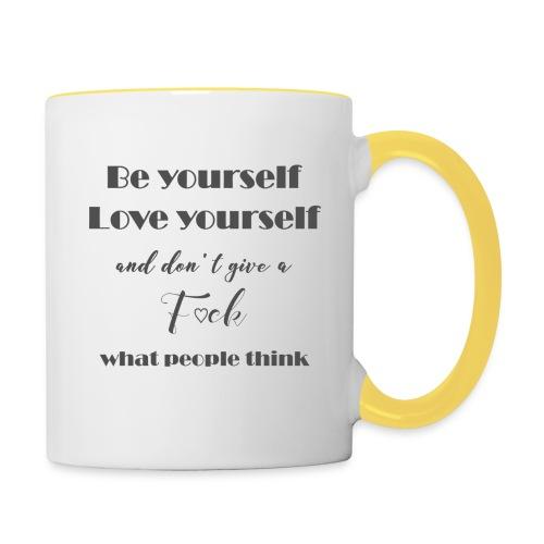 Be yourself Love yourself grey - Tasse zweifarbig