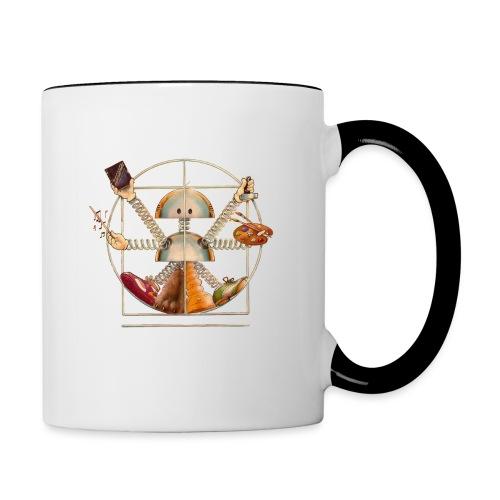 Sam_the_Robot – Vitruvian Design - Contrasting Mug