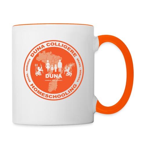 Duna Colligere Orange - Tofarget kopp