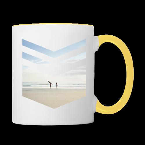Surfing Beach - Tasse zweifarbig