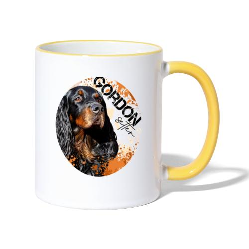 Gordon Setter Splash - Kaksivärinen muki