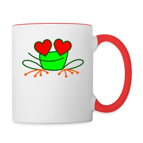 Frog in Love - Contrasting Mug