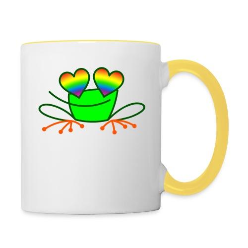 Pride Frog in Love - Contrasting Mug