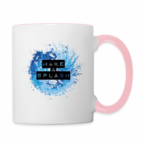 Make a Splash - Aquarell Design in Blau - Tasse zweifarbig