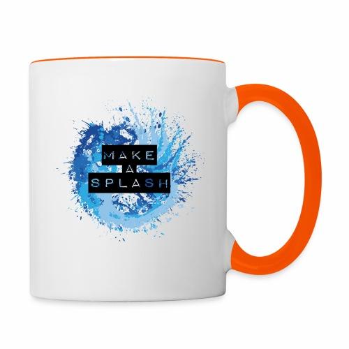 Make a Splash - Aquarell Design in Blau - Tasse zweifarbig