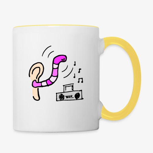 Radio Friendly Brain Worm - Tvåfärgad mugg