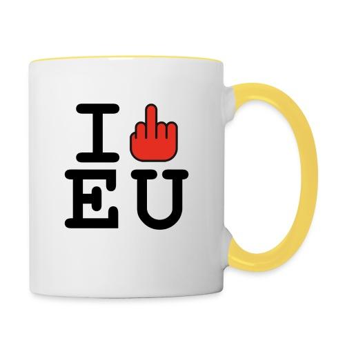 i fck EU European Union Brexit - Contrasting Mug