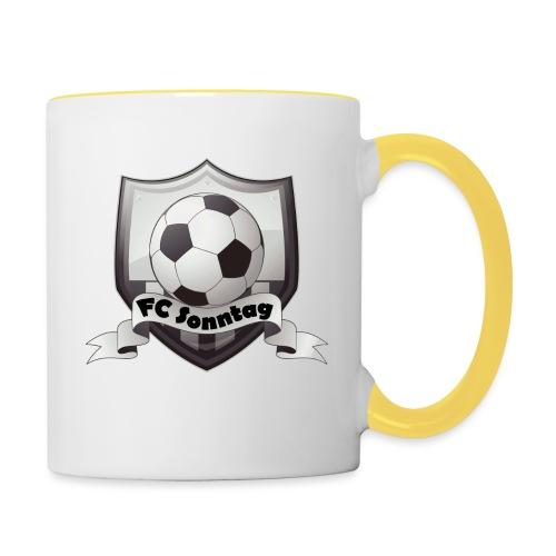 FC Sonntag Logo - Tasse zweifarbig
