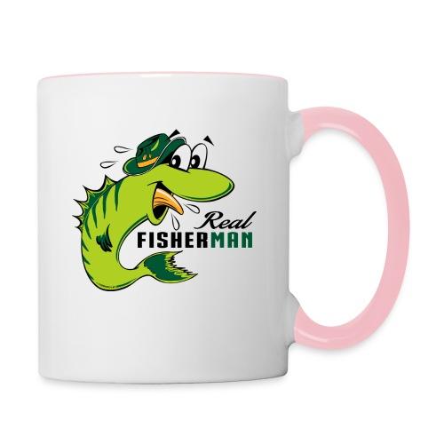 10-38 REAL FISHERMAN - TODELLINEN KALASTAJA - Kaksivärinen muki