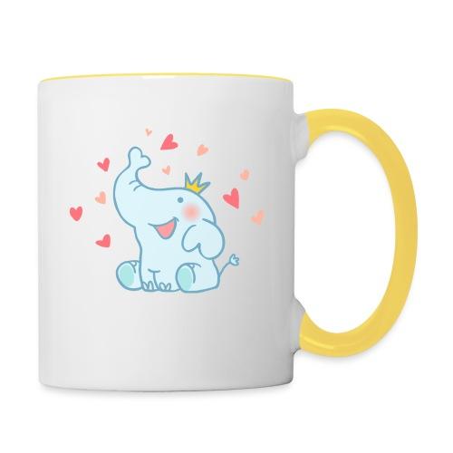 Eléphant amoureux - Mug contrasté