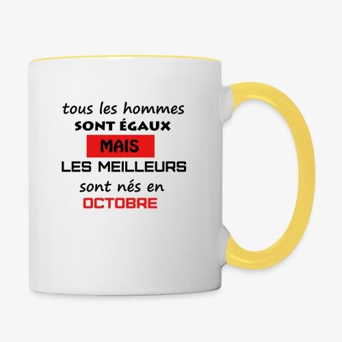 les meilleurs sont nés en octobre - Mug contrasté