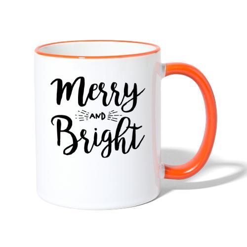 Merry and Bright - Tasse zweifarbig