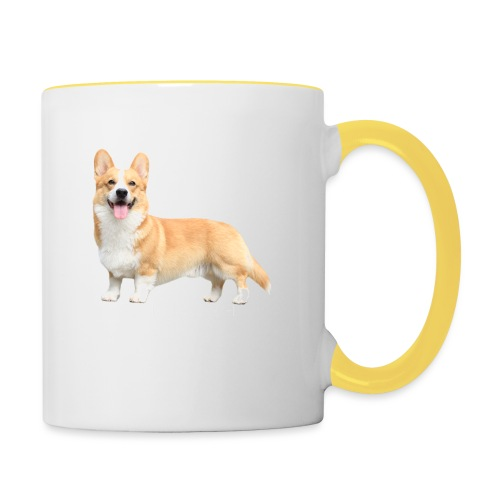 Topi the Corgi - White text - Contrasting Mug