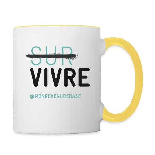 Vivre plutôt que survivre - Mug contrasté