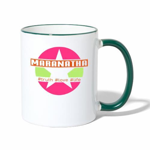 maranatha rosa-grün - Tasse zweifarbig