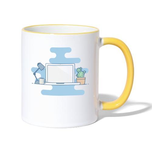 Arbeitstisch - Tasse zweifarbig
