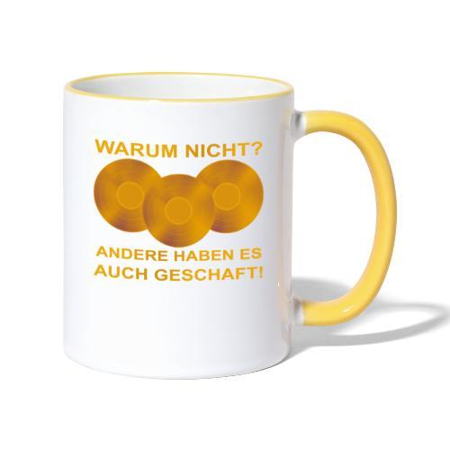 Goldene Schallplatte - Tasse zweifarbig