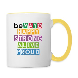 Happy Strong Alive Proud - Contrasting Mug
