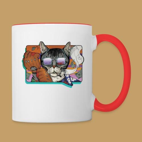 Crime Cat in Shades - Kubek dwukolorowy