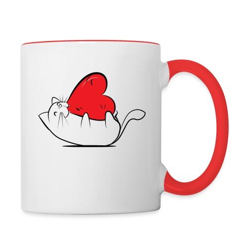 Cat Love - Mok tweekleurig