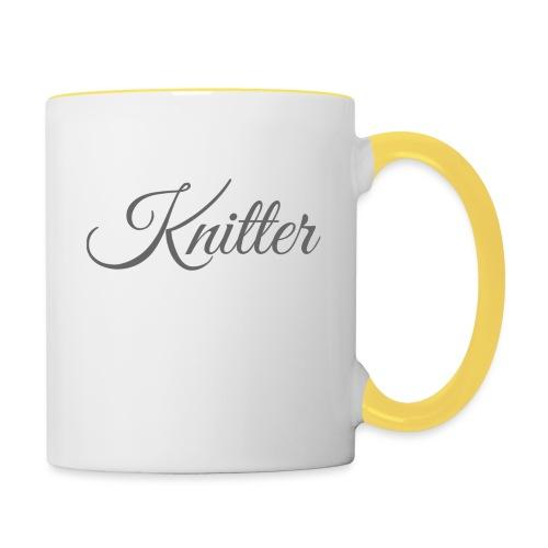 Knitter, dark gray - Contrasting Mug
