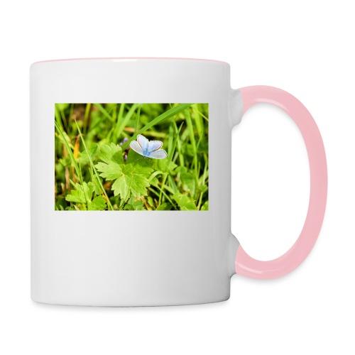 Blue Butterfly by EmilyLife® - Contrasting Mug
