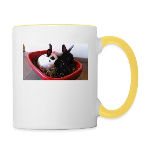 Warme Sachen mit dem Hasenlogo - Tasse zweifarbig