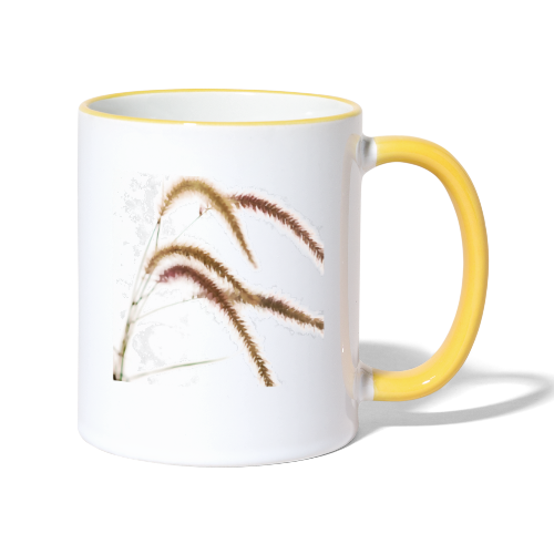 Tender grass watercolor minimalism nature - Contrasting Mug
