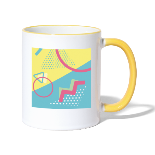 Pastel turquoise geometry - Contrasting Mug