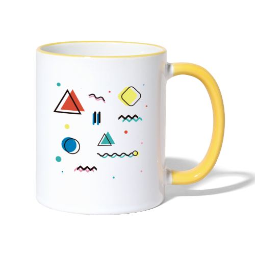 Abstract geometry - Contrasting Mug
