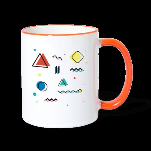 Abstract geometry - Contrasting Mug