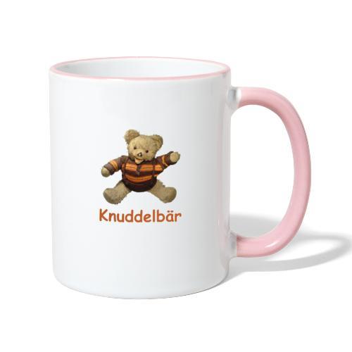 Teddybär Knuddelbär Schmusebär Teddy orange braun - Tasse zweifarbig