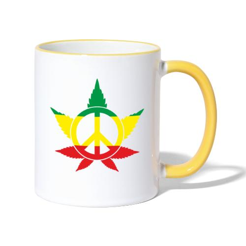 Peace färbig - Tasse zweifarbig