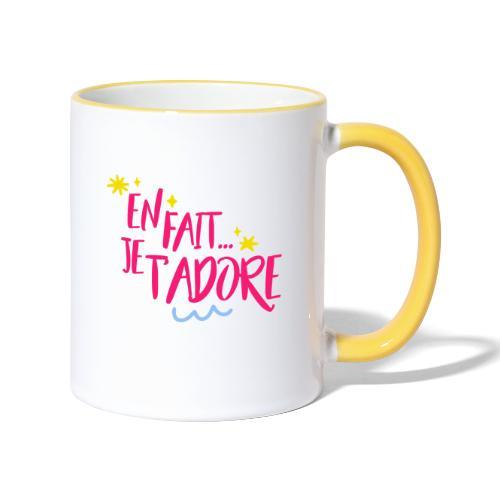 En fait, je t'adore - Mug contrasté