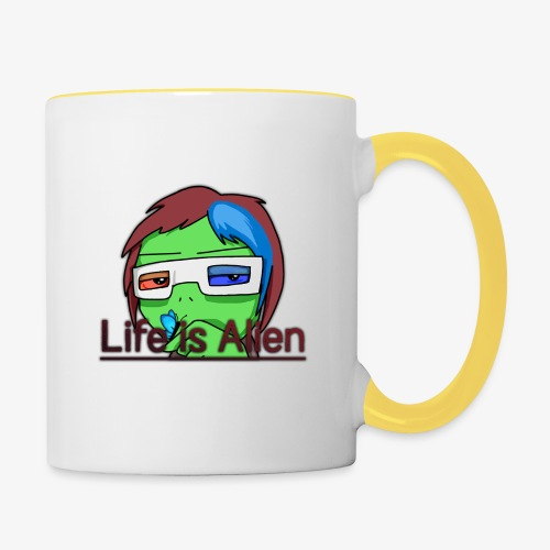 Life is Alien - Tasse zweifarbig