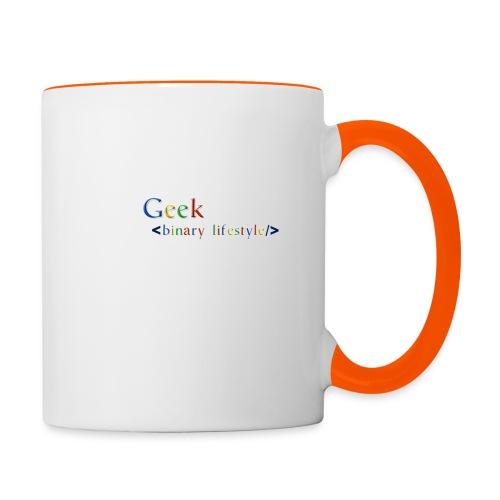 geek_life_style_google_font - Taza en dos colores