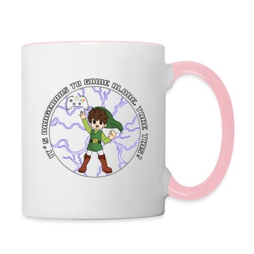 Dangerous To Game Alone - Contrasting Mug