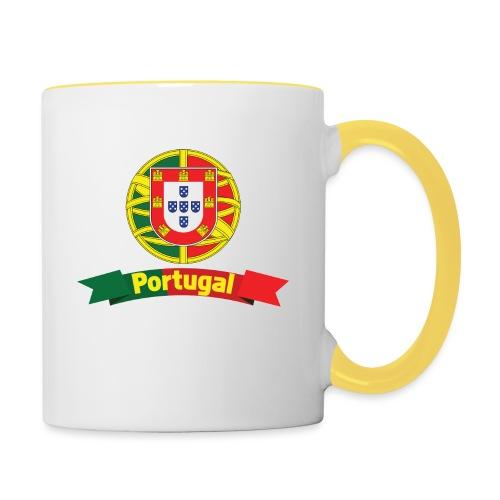 Portugal Campeão Europeu Camisolas de Futebol - Contrasting Mug
