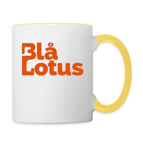 Blå Lotus_logo - Tvåfärgad mugg