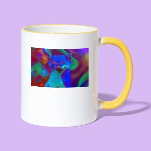 Gattino con effetti neon surreali - Tazze bicolor
