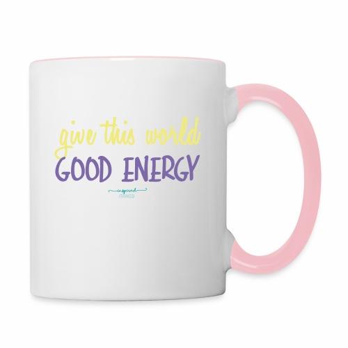 Give this world good energy - Contrasting Mug