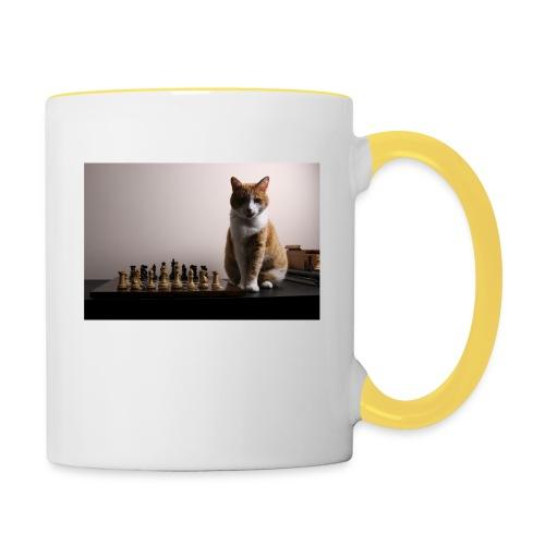 Charlie and his chess board - Contrasting Mug