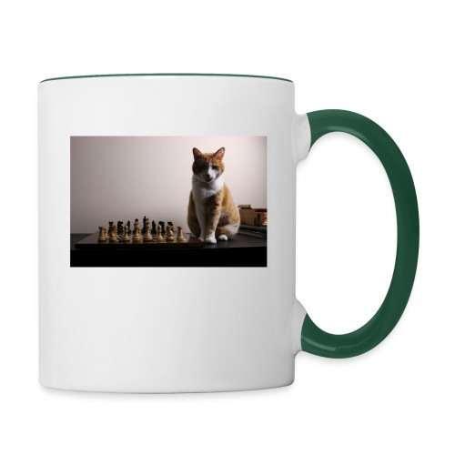 Charlie and his chess board - Contrasting Mug