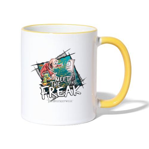 meet the freak - Tasse zweifarbig